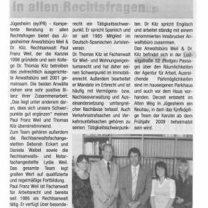 Rodgau Post – Mai 2008